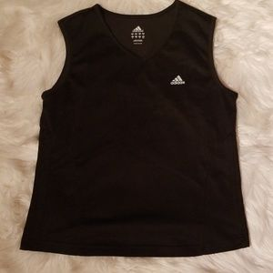 Adidas Black Mesh ClimaLite Tank Top Medium